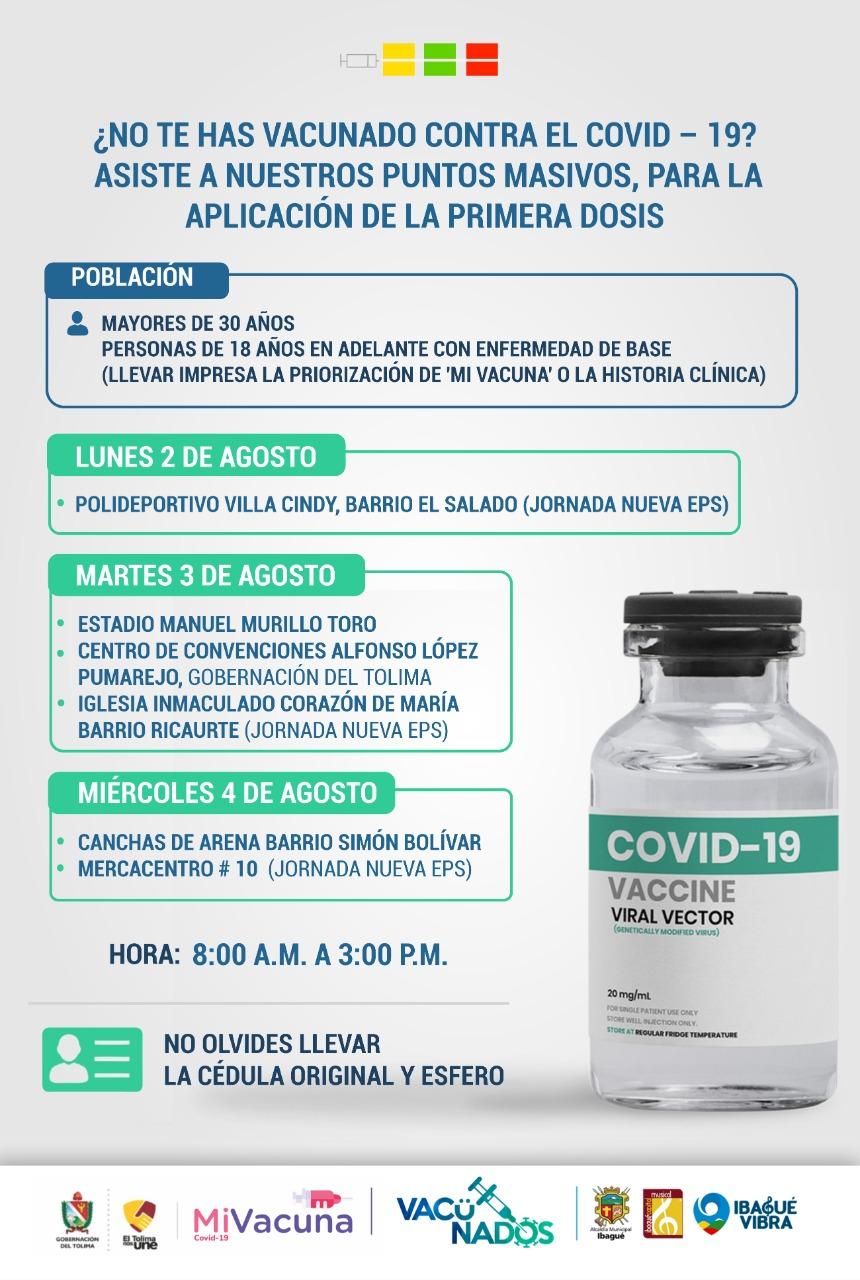 Conozca los puntos de vacunación para esta semana en Ibagué 4