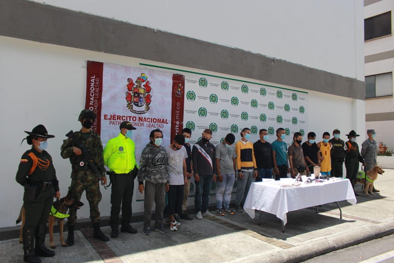 11 personas capturadas por microtráfico en Ibagué 5