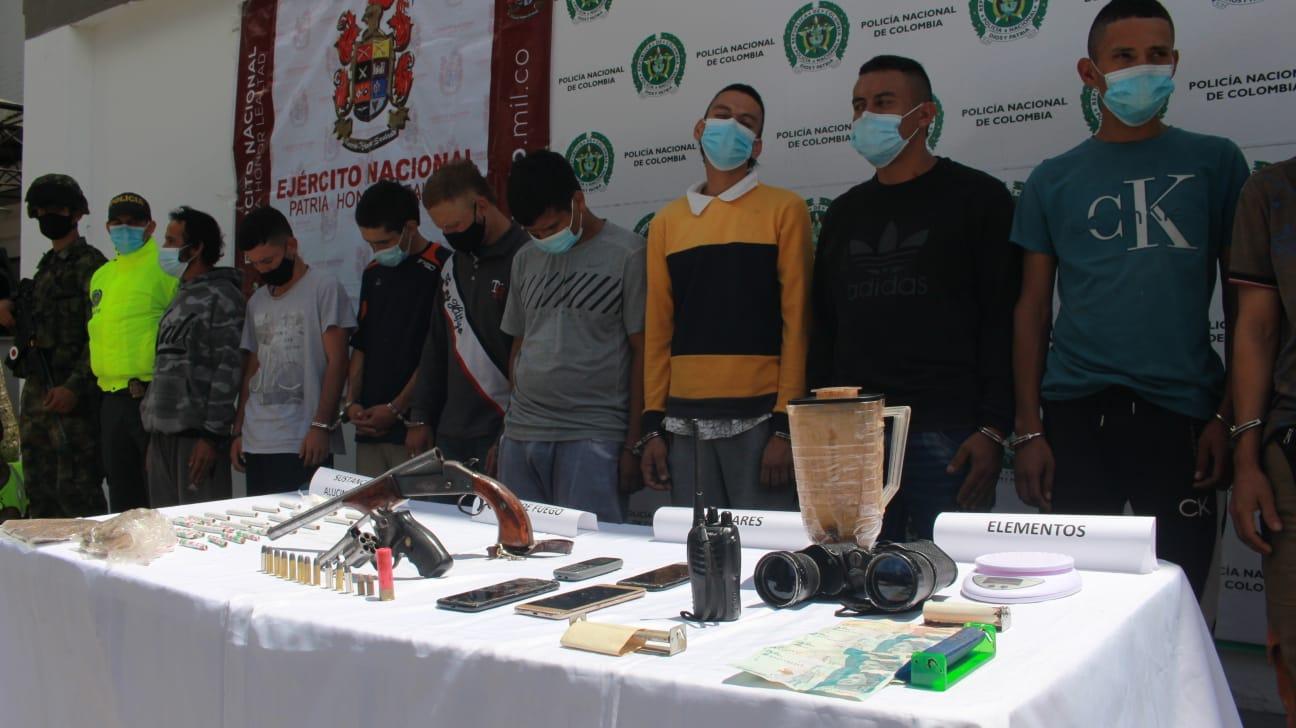 11 personas capturadas por microtráfico en Ibagué 2