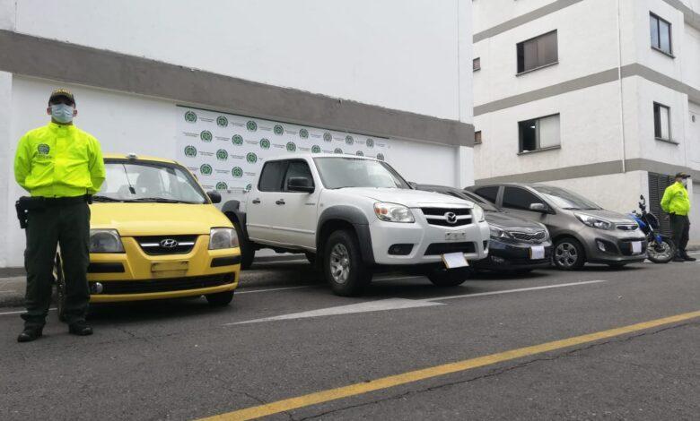 Cuatro vehículos robados y una motocicleta fueron recuperados en Ibagué 1