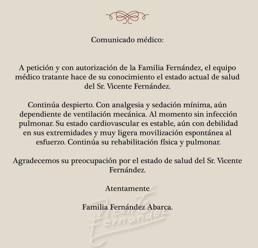 Vicente Fernández sigue en el hospital. Hay nuevo parte médico 4