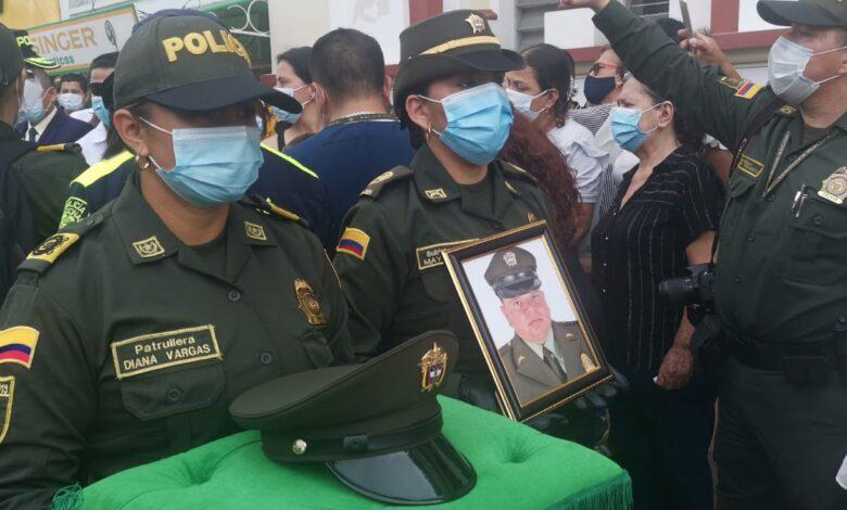 Con homenaje despidieron al patrullero tolimense asesinado en Bogotá 1