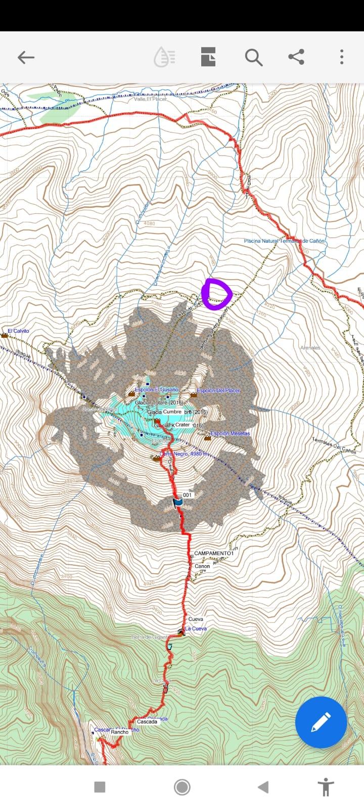 Montañista se extravió en travesía por el Nevado del Tolima 2