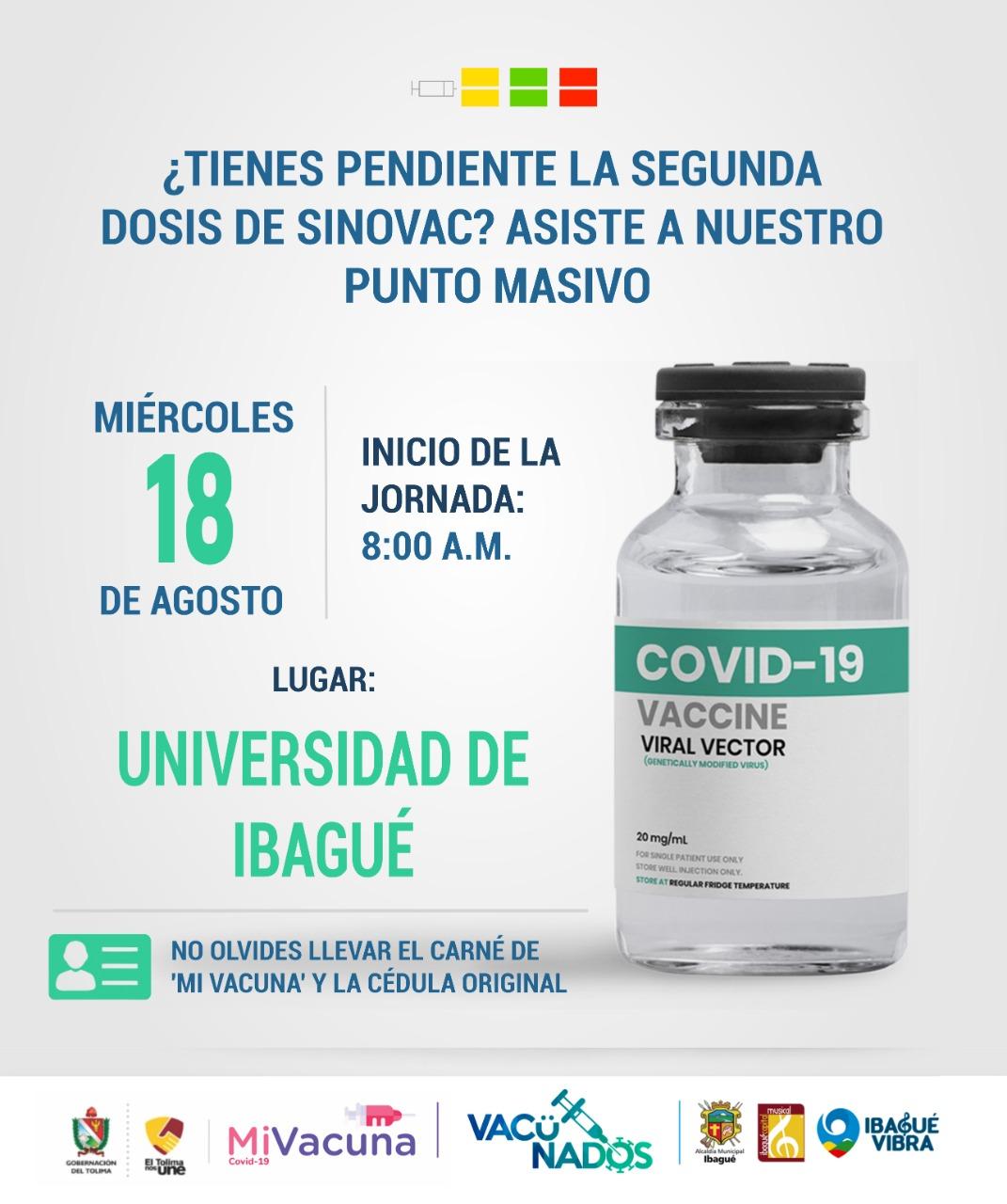 Hoy inician nuevamente las jornadas masiva de vacunación en Ibagué 6