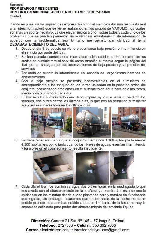 Por falta de agua ibaguereños convocan a cierre de Variante Ibagué-Bogota 2