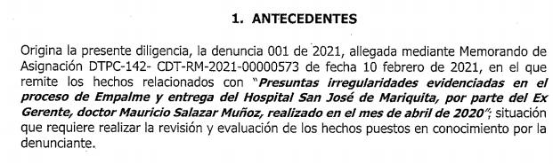 Investigan a exgerente del Hospital de Mariquita, le pagaron viáticos injustificados 4