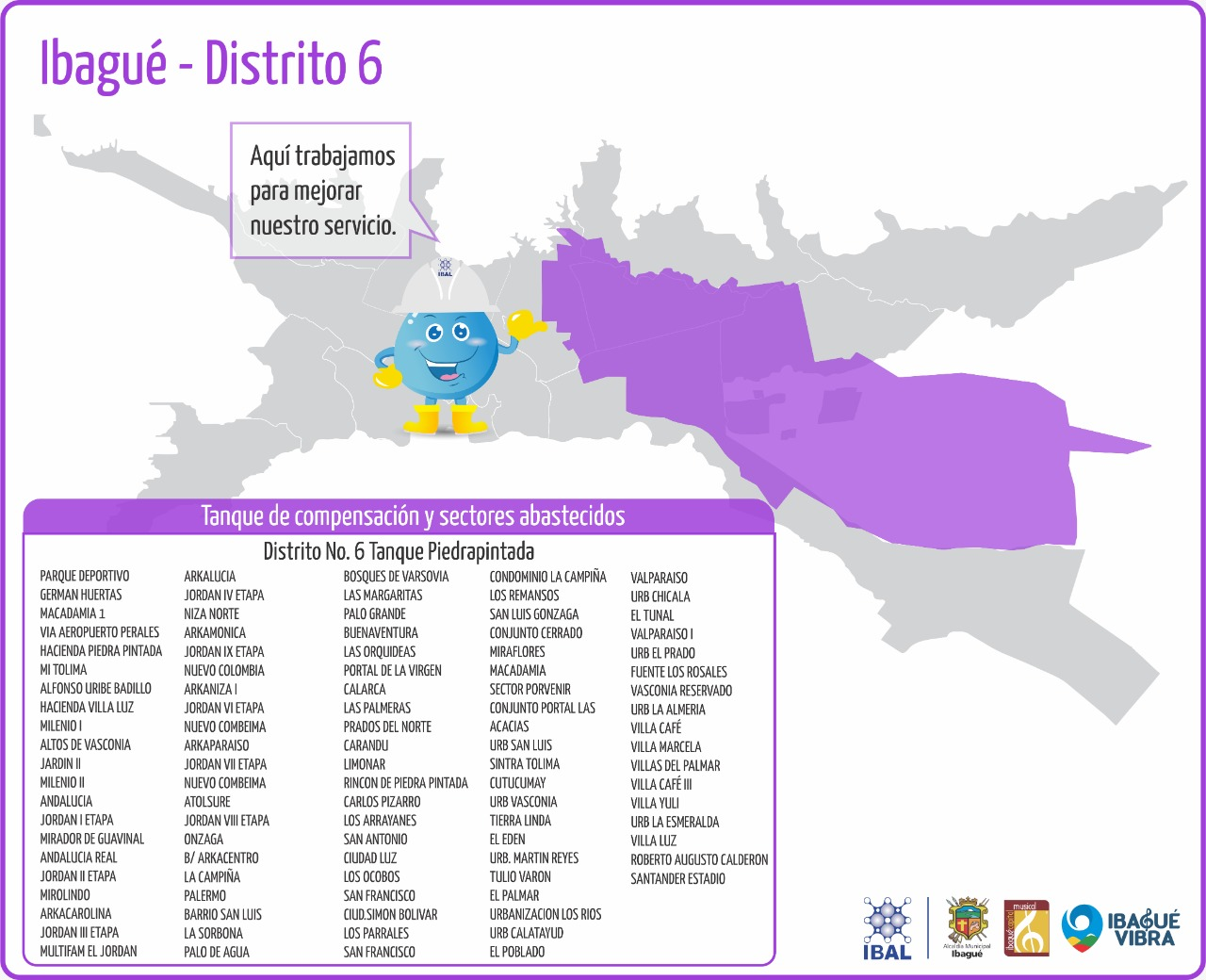 Al menos 200 barrios de Ibagué estarán sin agua este miércoles 11 de agosto 2