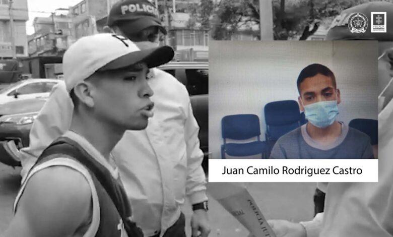 Medida de aseguramiento al señalado responsable de arrojar bomba molotov a patrullero del ESMAD en Bogotá 1