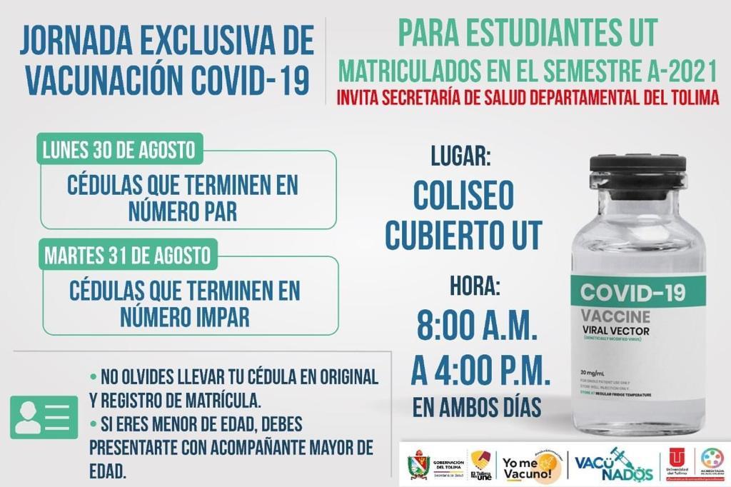 Jornada de vacunación contra el COVI-19 exclusiva para estudiantes de la UT 4