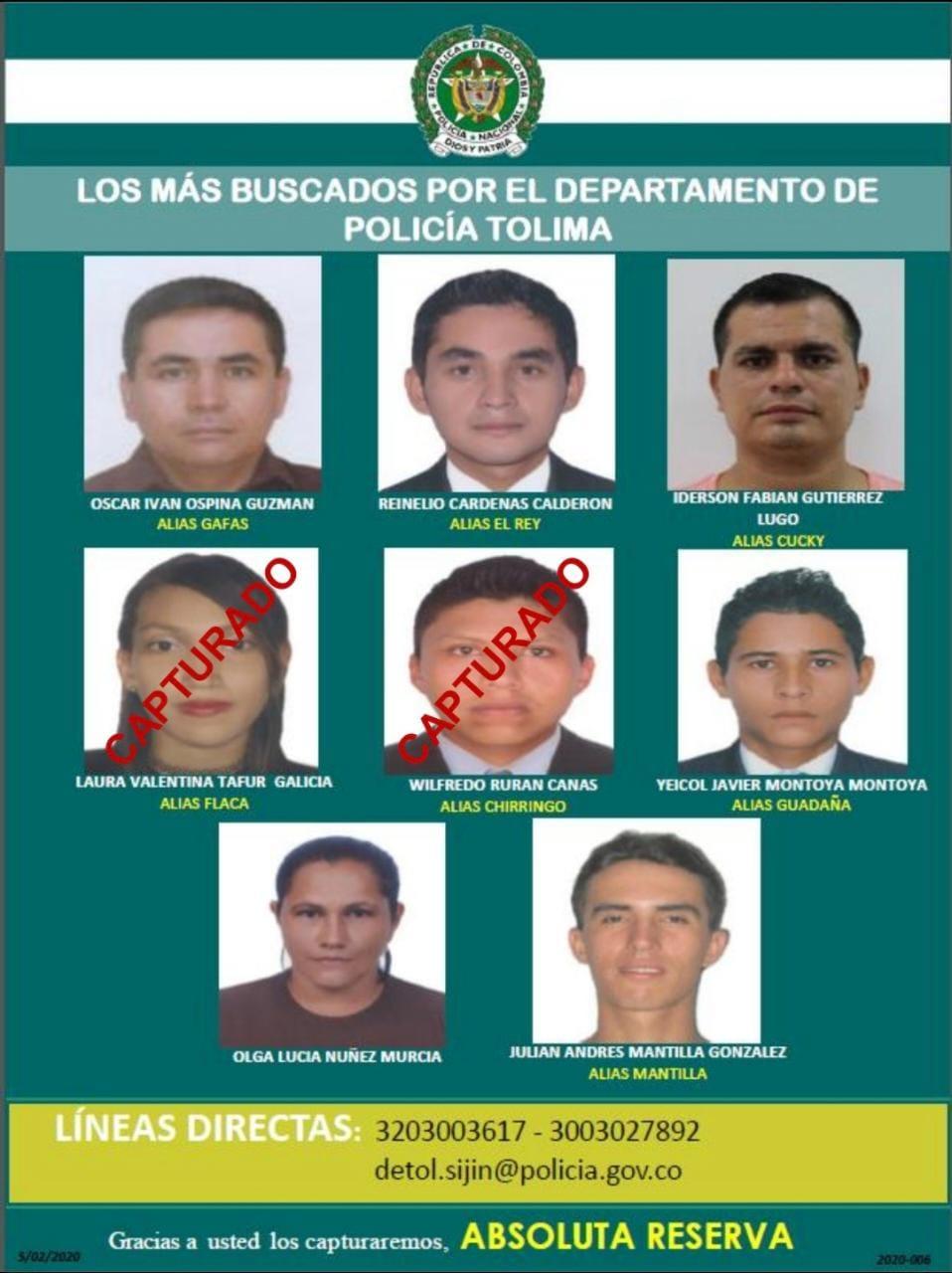 Conozca el rostro de los ocho delincuentes más buscados del Tolima 4