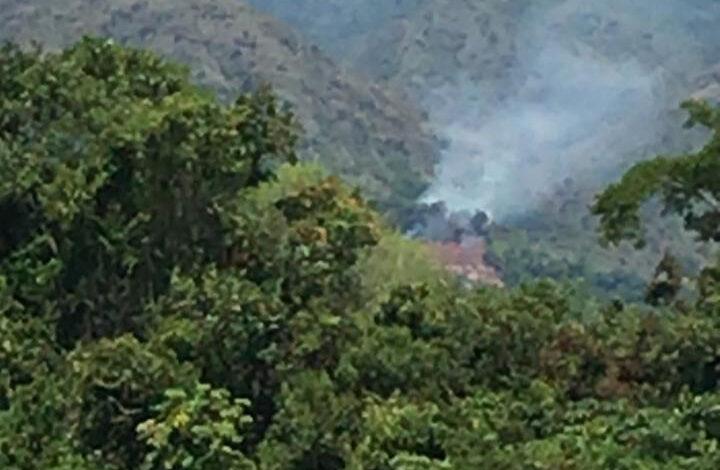 Incendio forestal causó emergencia en Suárez 1
