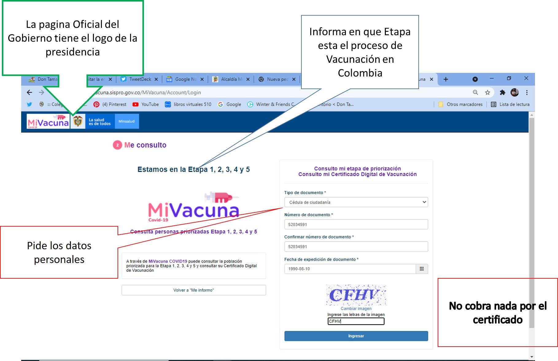 ¡Venga le cuento¡ El certificado digital de vacunación es gratuito 6