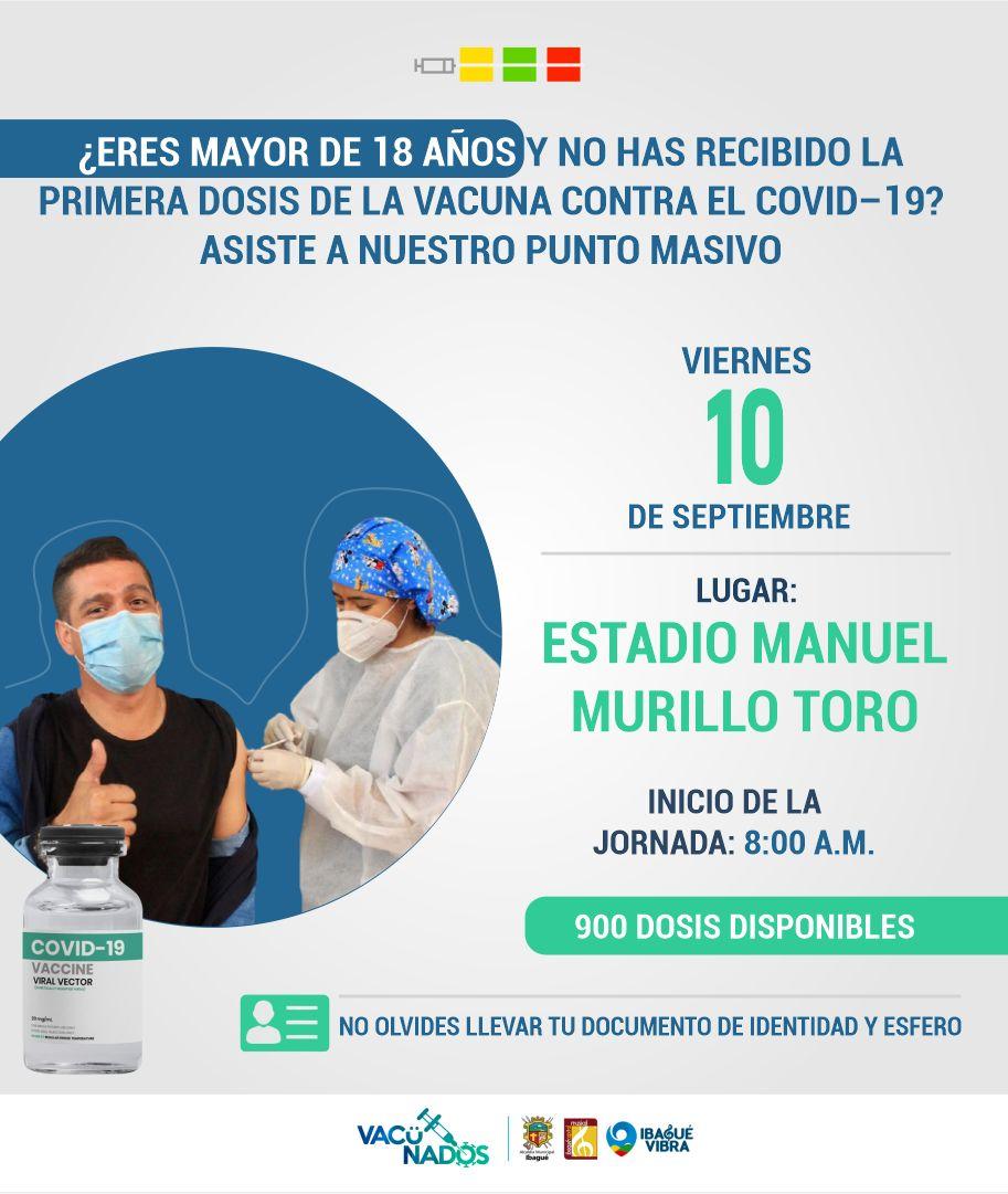 Conozca cómo será la jornada de vacunación este jueves y viernes en Ibagué 2