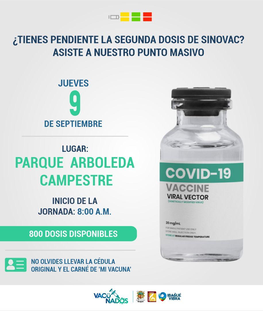 Conozca cómo será la jornada de vacunación este jueves y viernes en Ibagué 4