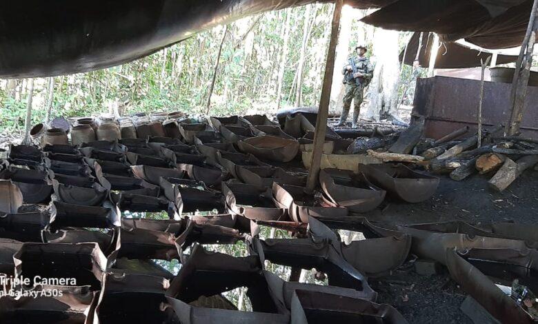 Así fue la destrucción de un laboratorio de coca en el Putumayo 1