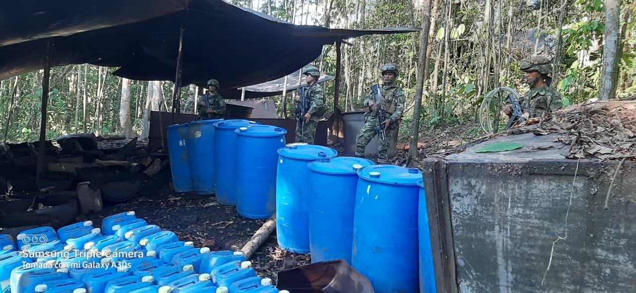 Así fue la destrucción de un laboratorio de coca en el Putumayo 2