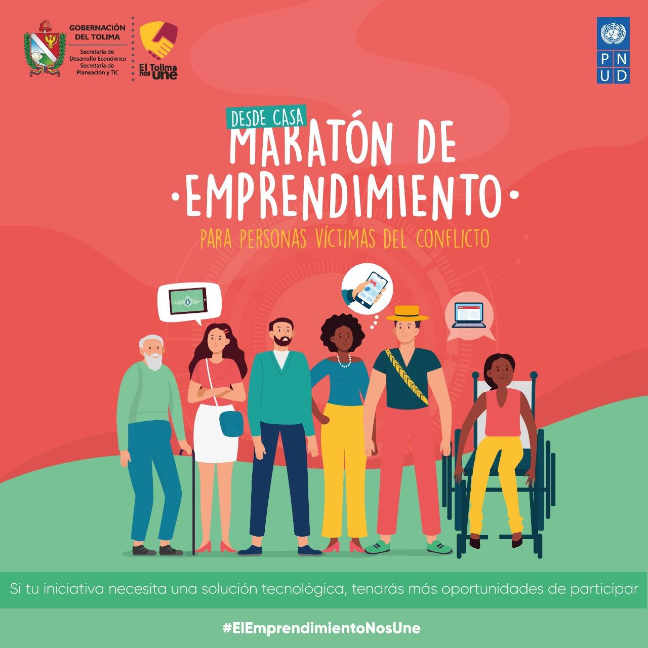 Hasta el 27 de septiembre, víctimas del conflicto podrán inscribirse en la Maratón de Emprendimiento 4
