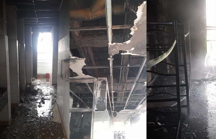 Emergencia por incendio en el comando de Policía de Ibagué 3