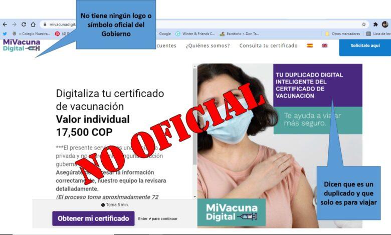 ¡Venga le cuento¡ El certificado digital de vacunación es gratuito 5