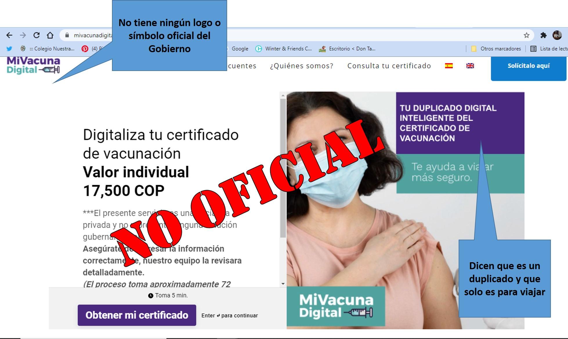 ¡Venga le cuento¡ El certificado digital de vacunación es gratuito 7