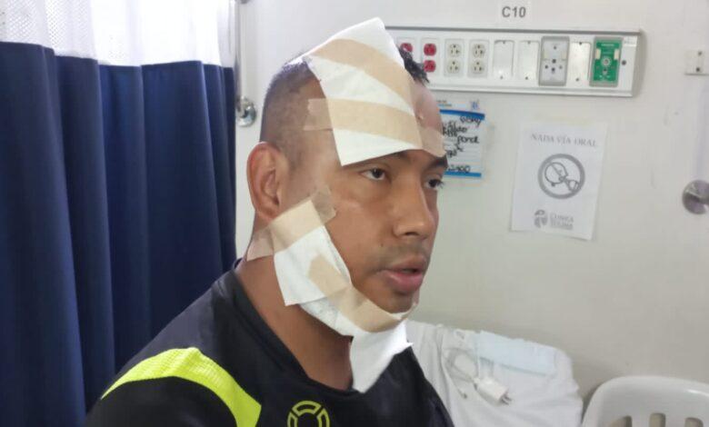Policía sufrió quemaduras en su rostro tras ser atacado con ácido en Ibagué 1