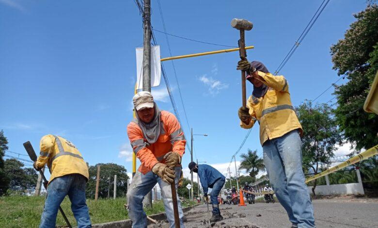 Alcaldía avanza en la recuperación de la malla vial de Ibagué 1