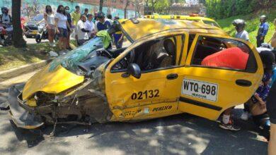 Murió una de las víctimas del accidente del taxi en la Guabinal 4