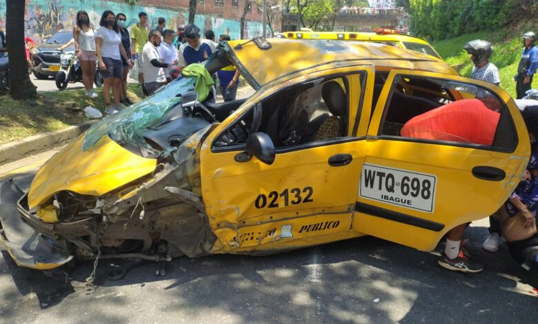 Murió una de las víctimas del accidente del taxi en la Guabinal 3