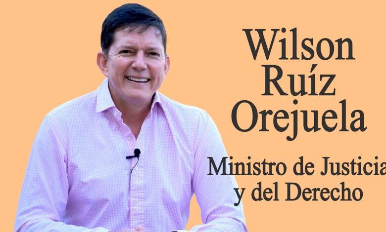 Entrevista con el Ministro de Justicia, Wilson Ruiz 1