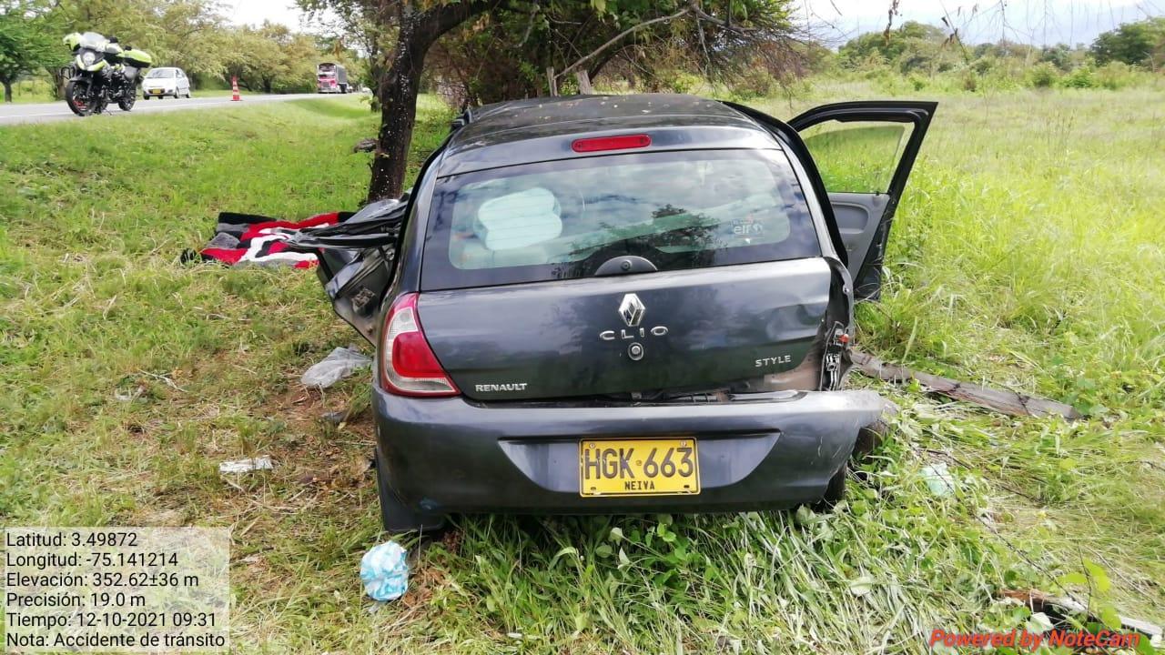 Dos heridos dejo un accidente en la vía a Natagaima 4