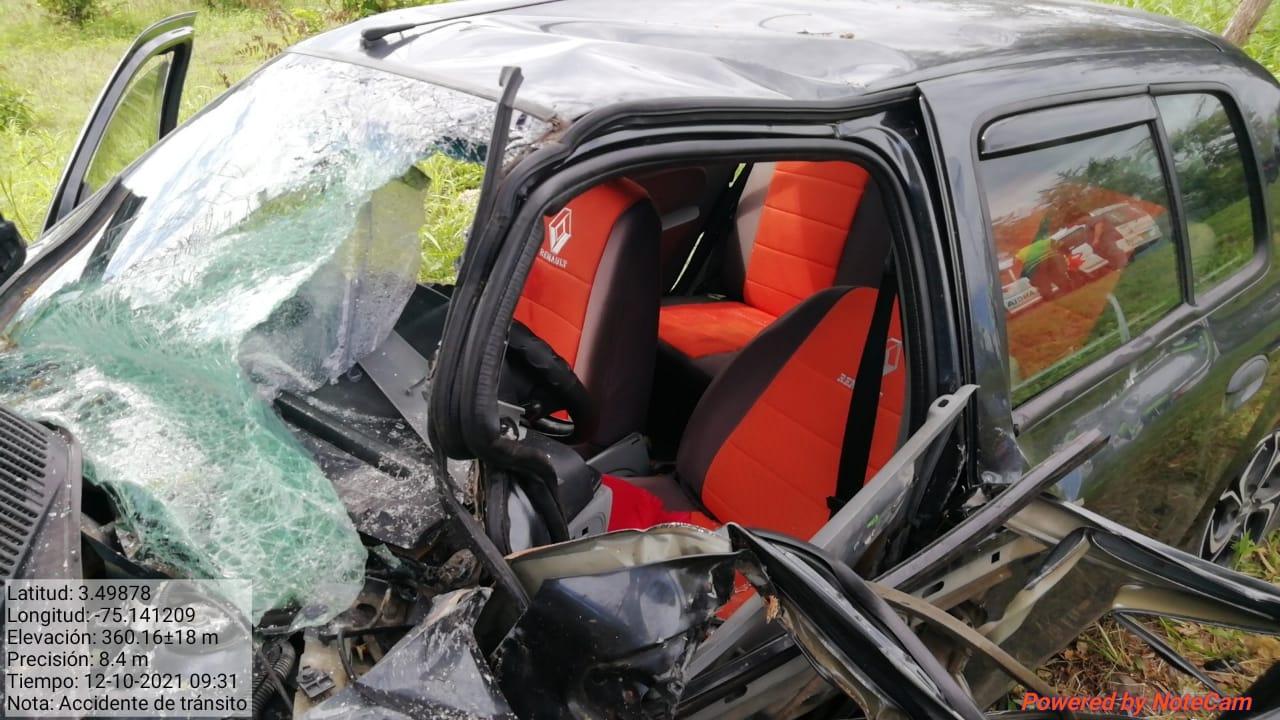 Dos heridos dejo un accidente en la vía a Natagaima 3