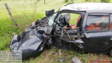 Dos heridos dejo un accidente en la vía a Natagaima 8