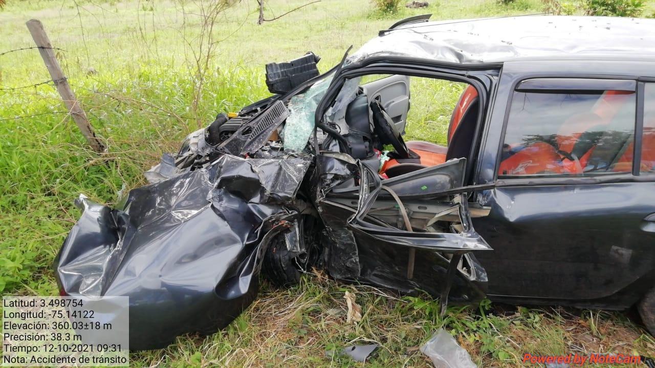Dos heridos dejo un accidente en la vía a Natagaima 2