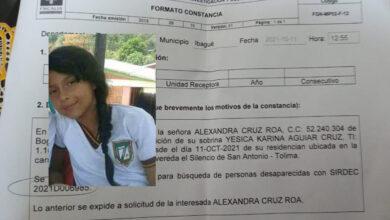 Niña de 13 años desapareció en San Antonio, Tolima 9